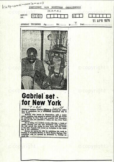 Gabriel set for New York
