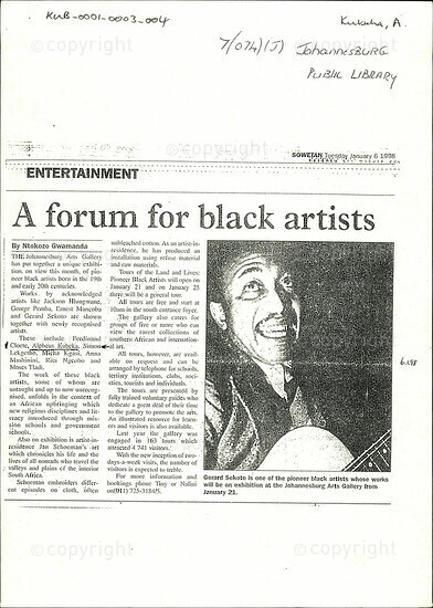 A forum for black artists