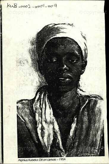 Alphius Kubeka Oil on canvas -1954 [and related document]