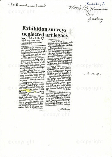 Exhibition surveys neglected art legacy