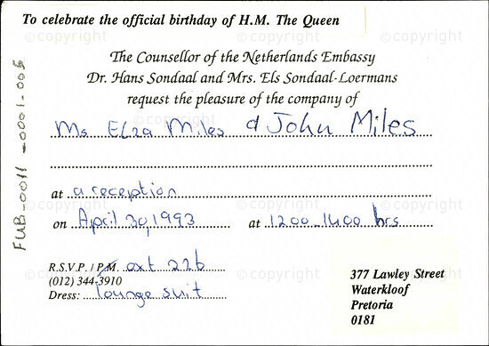 To  celebrate the official birthday of H.M. The Queen