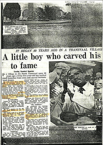 A little boy who carved his to fame