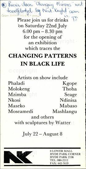 Changing Patterns In Black Life